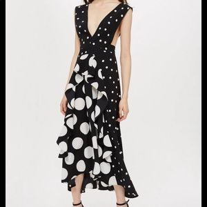 Topshop cult polka dot dress